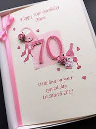 70th Birthday Cards Personalised 70th Birthday Card For Mum Grandma Nanny Wife