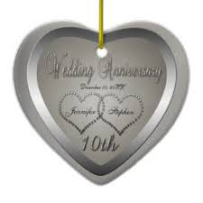 anniversary christmas ornament 10 year anniversary ornaments keepsake ornaments zazzle