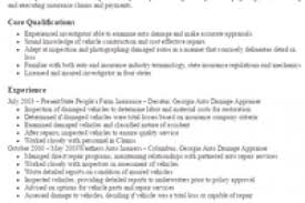 property claims adjuster resume auto appraiser cover letter