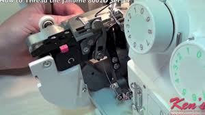 how to thread the janome 8002d serger youtube
