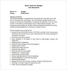 unique assistant manager job description tesstermulo com
