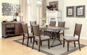 beckett dark oak dining room set from coaster coleman furniture beckett natural mango dining room set