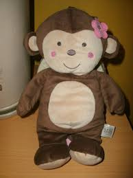 carter u0027s just one you monkey musical crib toy brown pink flower