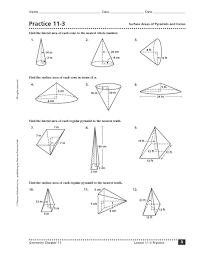 surface area cone worksheets surface area cone worksheets and