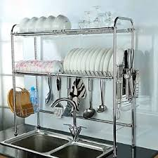 over the sink dish drying rack 2 tier dish drying rack over sink kitchen clutery holder drainer