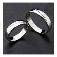 Sterling Silver Engravable Jewelry Matching Wedding And Engagement Ring Band Set For 2 Personalized