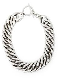chunky necklace chain images Lyst saint laurent chunky chain necklace in metallic jpeg
