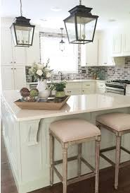 546 best kitchens images on pinterest kitchen white kitchens like the brick back splash