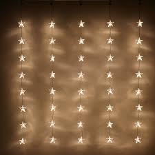 Star String Lights Indoor by Indoor Star Curtain Light With 40 Warm White Leds On Clear Cable