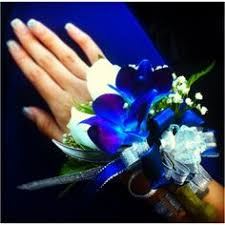 Where To Buy Corsages For Prom Prom Royal Blue And Silver Prom Corsage By Lisashenhousedesigns
