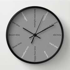 wall clock modern kitchen wall clock fun clock modern wall clock diet clock