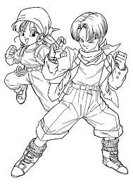 dragon ball z art book coloring page free download