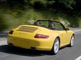 yellow porsche side view porsche 911 carrera 4 cabriolet 2006 pictures information u0026 specs