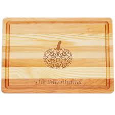 personalized serving tray pumpkin personalized serving wood tray