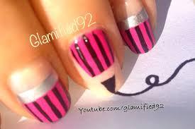 2015 diy easy back to nails pink pencil nail art design