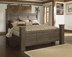 interior wing dark brown wood headboard connected by white table