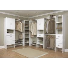 Closets Organizers Elegant Interior Design With White Solid Oak Wood Closet