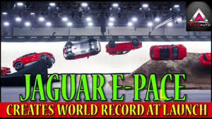 new 2018 jaguar e pace suv barrel roll youtube