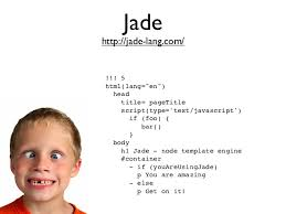 jade lang layout building a real life application in node js