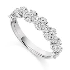half eternity ring ct diamond cluster half eternity ring