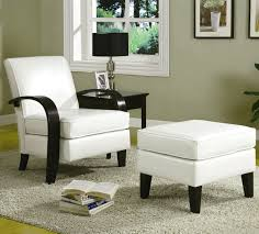 Black And White Chair And Ottoman Design Ideas Chair Living Room Chairs With Ottomans Modern Living Room Chairs