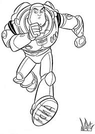 buzz running save woddy toy story coloring buzz