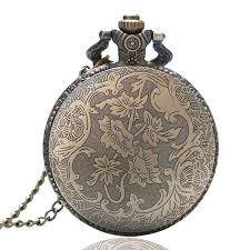 quartz necklace watch images Cool vintage skeleton spine ribs quartz pocket watch necklace jpg