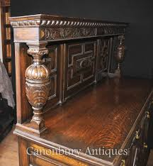 antique oak jacobean sideboard server buffet kitchen furniture ebay
