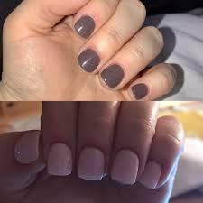 one month difference with sns nails natural nails no tips or