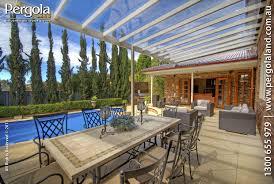 wohnideen minimalistischem pergola flat sloping pergola aluminium frame polycarbonate roofing