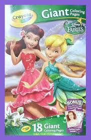 amazon com crayola disney fairies giant color pages toys u0026 games
