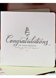congrats wedding card letterpress congratulations on your wedding card buy wedding