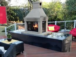 creative outdoor metal fireplace interior design for home