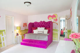 bedroom pink velvet daybed with storage and stair having high