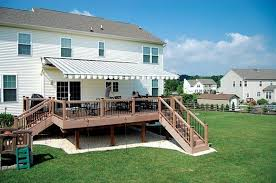 Retractable Porch Awnings Retractable Awning For Deck Schwep