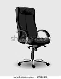 Leather Office Armchair Black Leather Office Armchair Vector Stock Vector 402290149