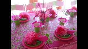 home birthday party table decoration ideas for kids youtube