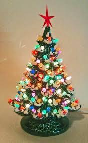 charming design ceramic christmas trees tree lights vintage new