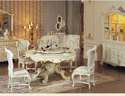 interior luxury vintage dining room with victorian dining set and