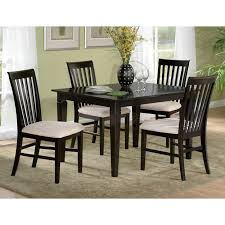 Espresso Dining Room Furniture Deco 48 X 36 Solid Top Dining Table W Tapered Legs Dcg Stores