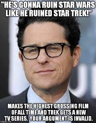 Meme Generator Star Trek - jj abrams meme generator imgflip