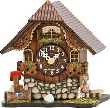 Chalet Houses Cuckoo Clock Kuckulino Quartz Movement Chalet Style 13cm By