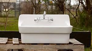 Blue Kitchen Sink Vintage Style High Back Farm Sink Original Porcelain Finish Apron