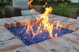Fire Pit With Glass by Discover In Ground Fire Pit Ideas Exotic Pebbles And Glass