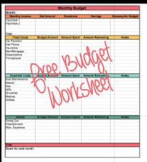 easy budget worksheet free printable excel doc