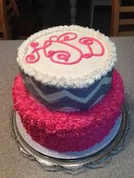 cake monograms monogrammed cake with chevron my cakes monogram