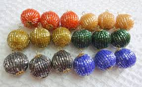 colorful beaded balls beaded decorative hangings