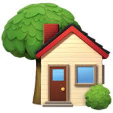 house emoji house with garden emoji u 1f3e1