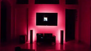 led lighting behind tv u0027s speakers and under cabinets youtube