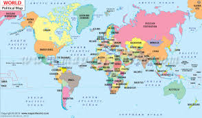 world political map with all countries emaps world